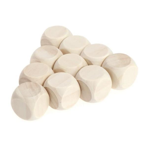 Lot de 10 Cubes en bois de hêtre, non traité, non teinté, de 20 mm, à customiser - Photo n°2