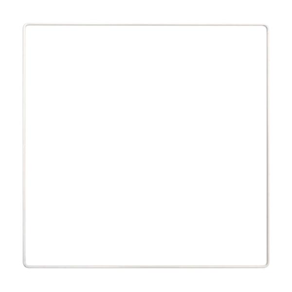 Carré métallique blanc 35 x 35 cm pour abat-jour, Epoxy blanc Attrape rêves - Photo n°1