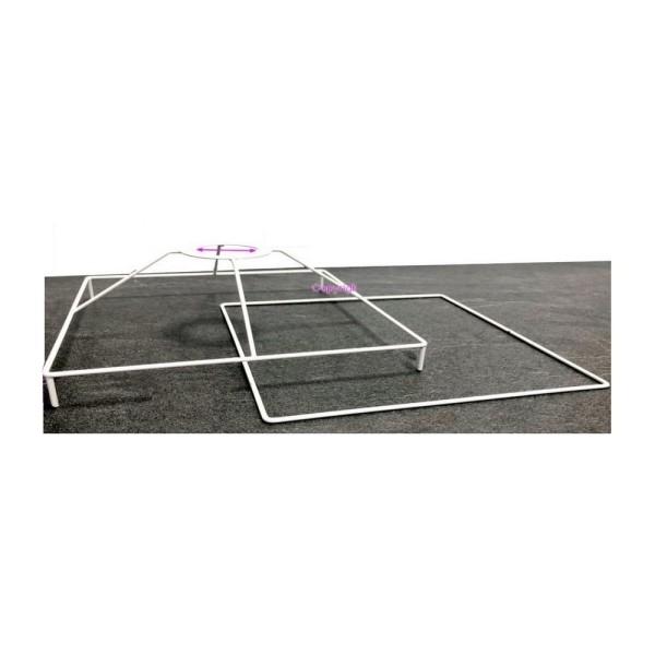 Set d'Ossature Carré avec pieds, 30cm pour abat-jour, Tête avec pieds et Cadre carrés en epoxy blanc - Photo n°1