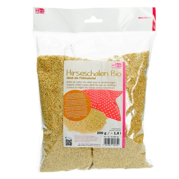 Écorces de Millet bio, sachet 200 gr, idéal pour le rembourrage - Photo n°1