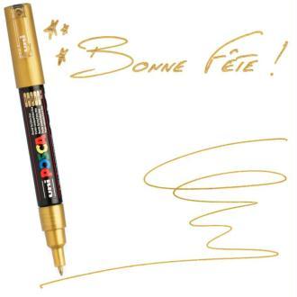 Marqueur Posca pointe conique extra fine 1 mm Or