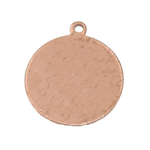 Lot de 10 Pendentifs en cuivre Rond, 1 trou, Ø 22 mm, ébauche pour émaillage - Photo n°1