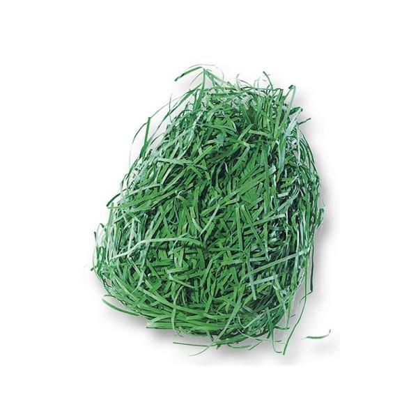 Sachet de 30 g d'herbe factice en papier vert pour la décoration de pâques ou printannière - Photo n°2