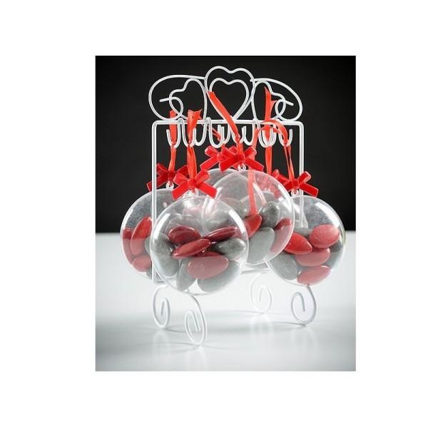 Lot de 10 Médaillons de 7 cm en plastique cristal transparent séparable, Contenant alimentaire sécab - Photo n°2