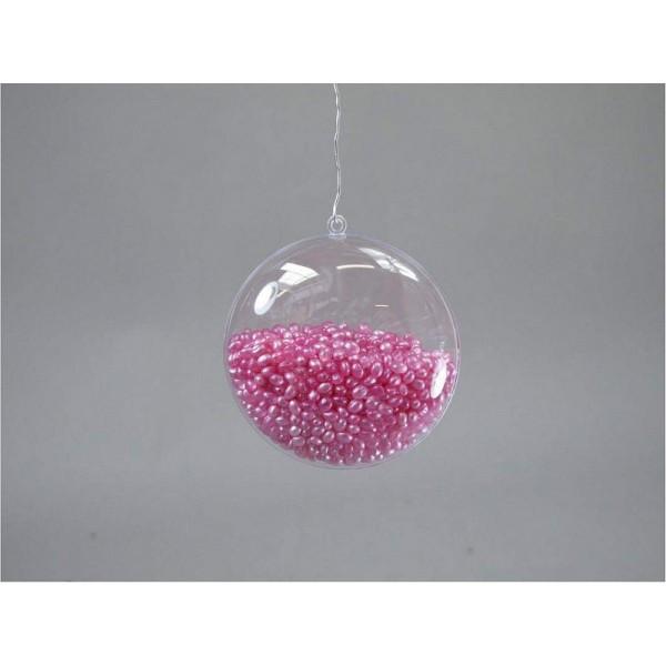 Lot de 10 Médaillons de 7 cm en plastique cristal transparent séparable, Contenant alimentaire sécab - Photo n°4