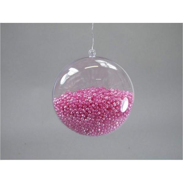 Lot de 10 Médaillons de Ø 9 cm en plastique cristal transparent séparable, Contenants alimentaire sé - Photo n°2