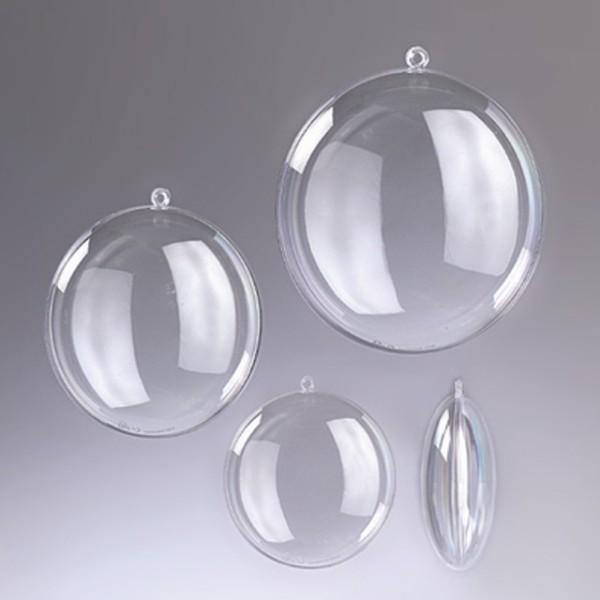 Lot de 5 grands Médaillons Ø 11 cm, plastique cristal transparent séparable, Contenant sécable alime - Photo n°2