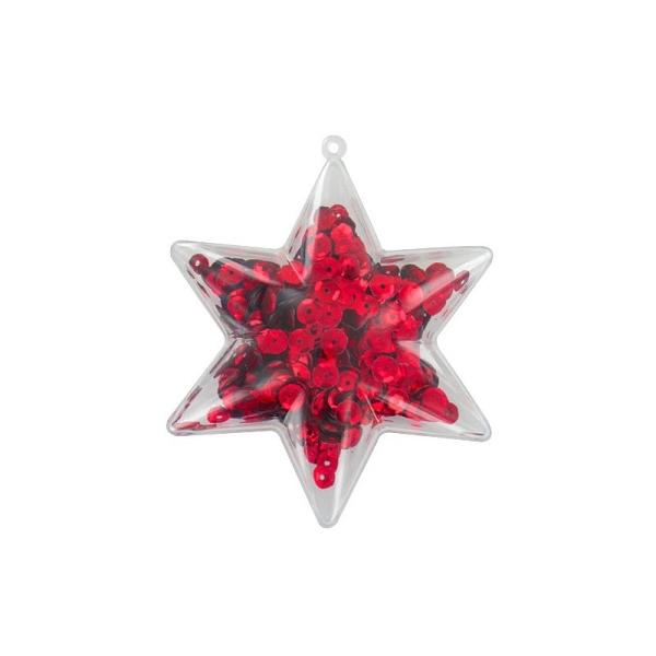 Lot de 5 étoiles 3D de 10 cm, 6 branches, plastique cristal alimentaire transparent, séparable, Cont - Photo n°2