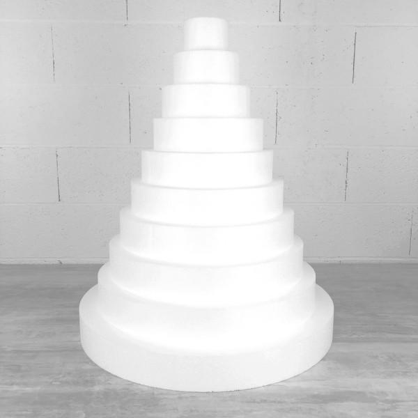 Pièce montée XXL en polystyrène haute densité, hauteur 70 cm, base 60 cm, 10 étages - Photo n°1
