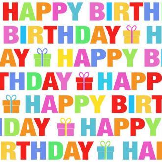 Lot de 20 Serviettes en papier Ecriture majuscule coloré Happy Birthday 33 x 33 cm