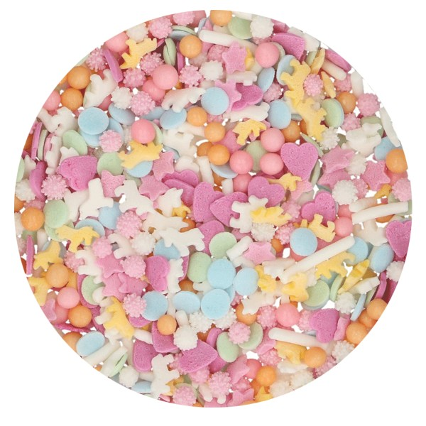 Mix confettis de sucre thème Licorne 50 gr - Photo n°2