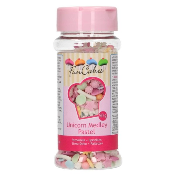 Mix confettis de sucre thème Licorne 50 gr - Photo n°1