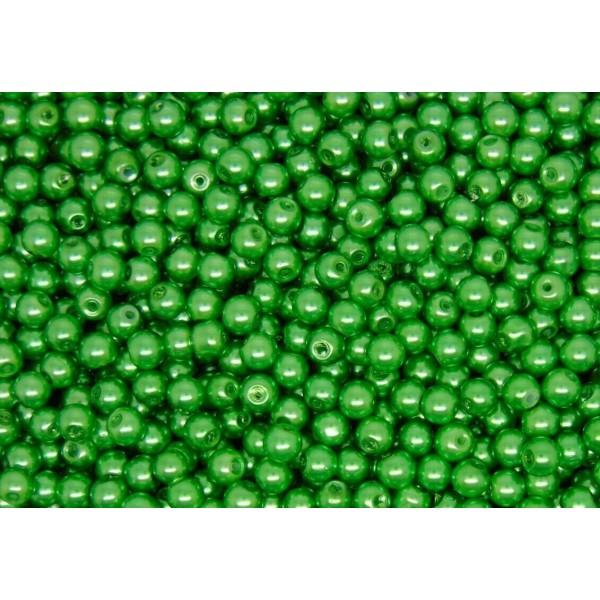 20 Perles imitation en Verre 8mm Couleur Vert creation Bijoux, Bracelet - Photo n°1
