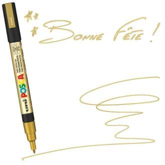 Marqueur Posca pointe conique fine 1,5 mm Or