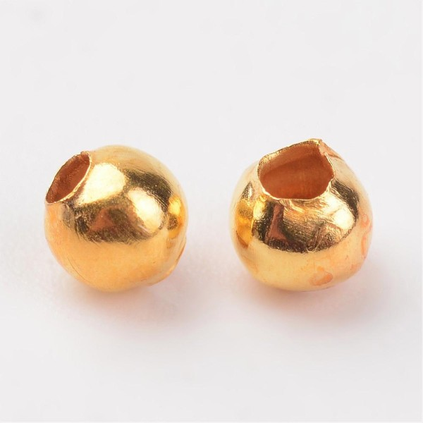Perles métal intercalaire 3 mm dorée x 100 - Photo n°2