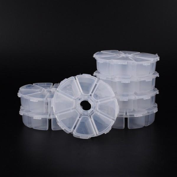 Boite rangement perles 8 compartiments 10.5 cm transparente x 1 - Photo n°2
