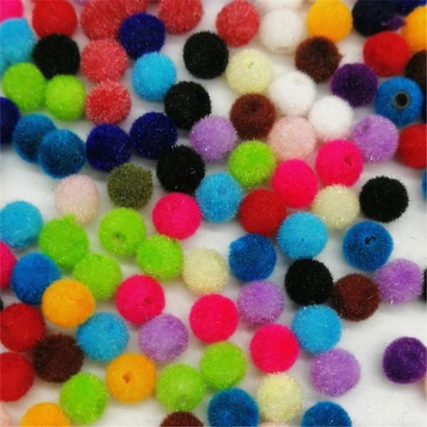 LOT 50 PERLES ACRYLIQUES : rondes velours couleurs 6mm - Photo n°1