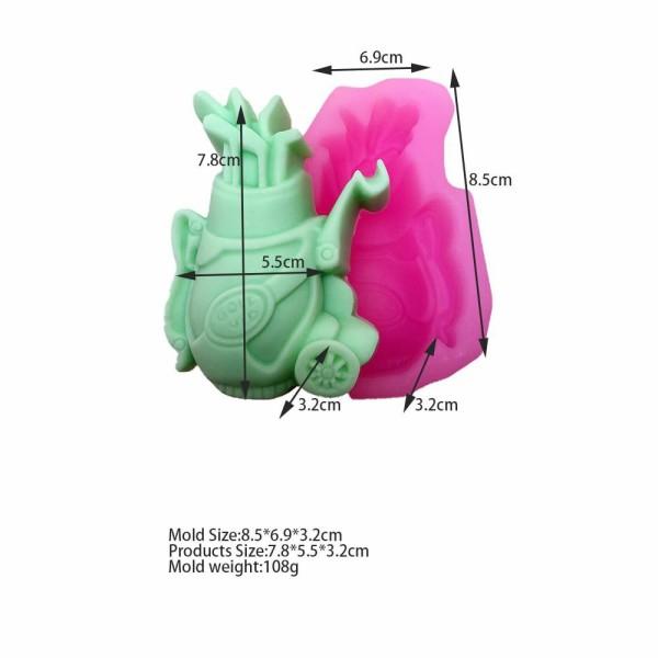 1 pc sac de Golf 3D Silicone Savon Moule argile gypse moule Uv Résine cire Bougie chocolat Gâteau Fo - Photo n°1