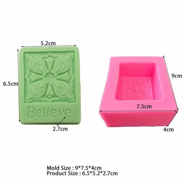 1 pc croire croix fleur 3D Silicone Savon Moule argile gypse moule Uv Résine cire Bougie chocolat Gâ - Photo n°2