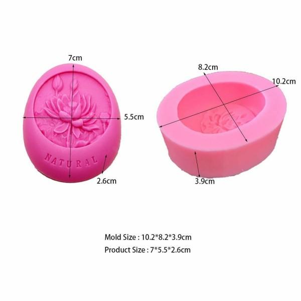 1 pc Fleur De Lotus naturel 3D Silicone Savon Moule argile gypse moule Uv Résine cire Bougie chocola - Photo n°2