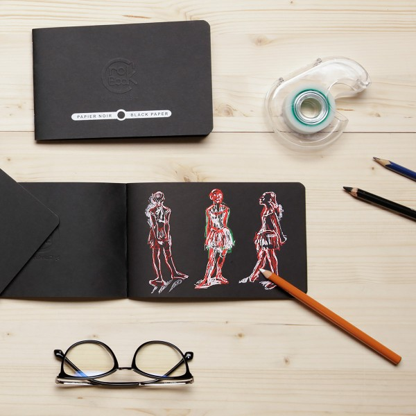 Carnet de croquis Crok'Book Papier noir - 120 g/m² - 17 x 11 cm - 20 pages - Photo n°2