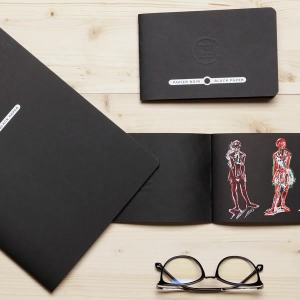 Carnet de croquis Crok'Book Papier noir - 120 g/m² - 17 x 22 cm - 20 pages - Photo n°2