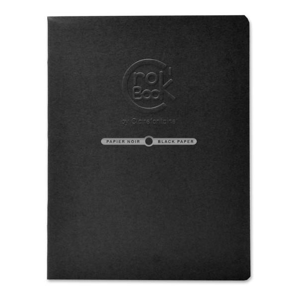 Carnet de croquis Crok'Book Papier noir - 120 g/m² - 17 x 22 cm - 20 pages - Photo n°1