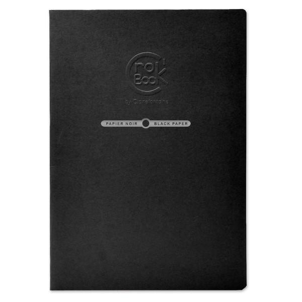 Carnet de croquis Crok'Book Papier noir - 120 g/m² - A4 - 20 pages - Photo n°1