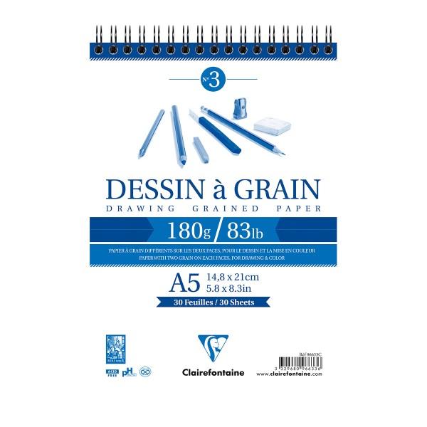 Bloc à dessin à grain 180g - A5 - 30 pages - Photo n°1