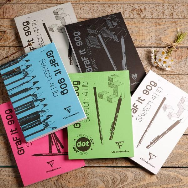 Bloc à dessin et croquis Graf'It Dot A5 - 90 gr - 160 feuilles - Photo n°2