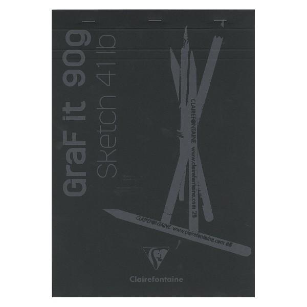 Bloc à dessin et croquis Graf'it Uni 90 g - A4 - 160 pages - Photo n°1