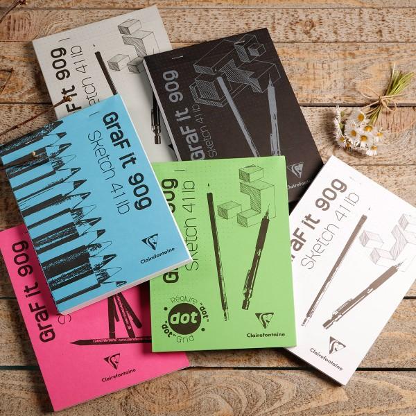 Bloc à dessin et croquis Graf'it Uni 90 g - A5 - 160 pages - Photo n°2