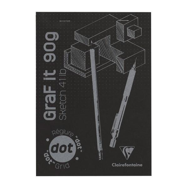 Bloc à dessin et croquis Graf'It Dot A5 - 90 gr - 160 feuilles - Photo n°1