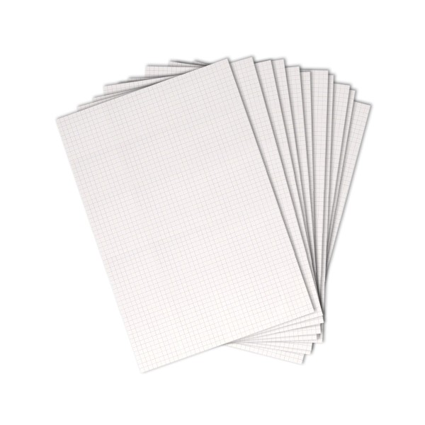 Papier Bristol quadrillé 205 g - A4 - 20 feuilles - Photo n°1