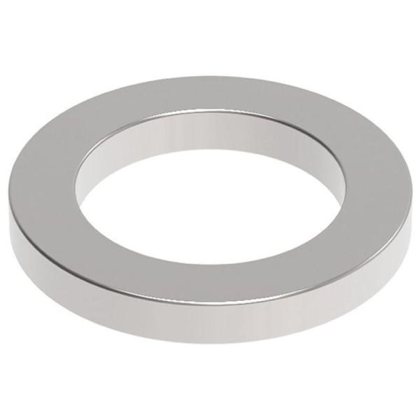 Aimant néodyme, torique, diamètre : 12 mm, nickel - Photo n°1