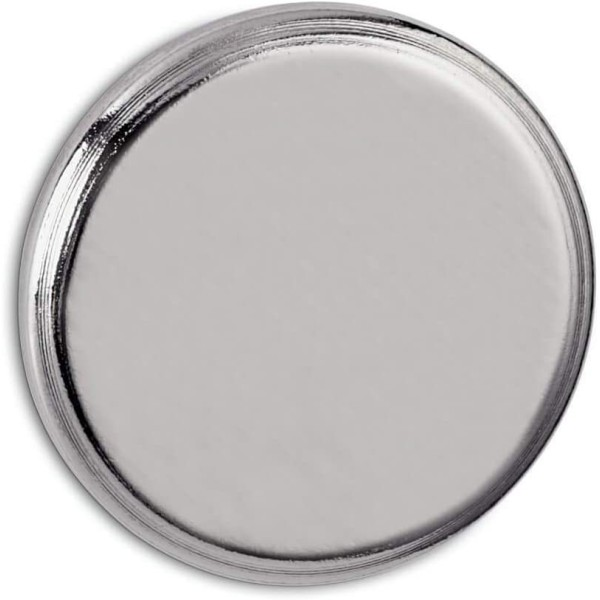 Aimant puissant néodyme, diamètre : 30 mm, nickel - Photo n°1