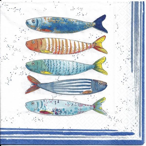 4 Serviettes en papier Bord de Mer Format Lunch 414-BORD Easy Life Decoupage Decopatch - Photo n°1