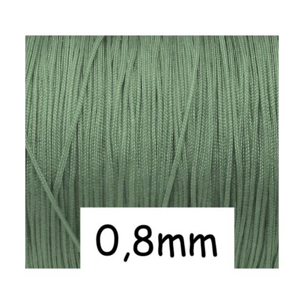10m Fil De Jade 0,8mm Vert Amande Clair - Idéal Noeud Coulissant - Shamballa-wrap - Photo n°1