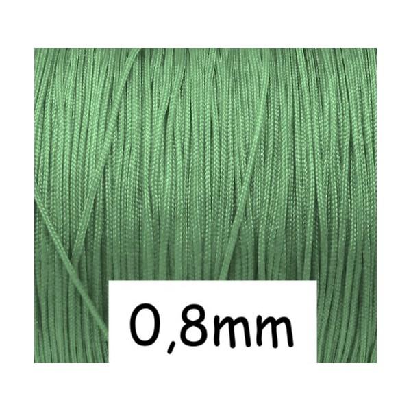 10m Fil De Jade 0,8mm Vert Nil - Idéal Noeud Coulissant - Shamballa-wrap - Photo n°1