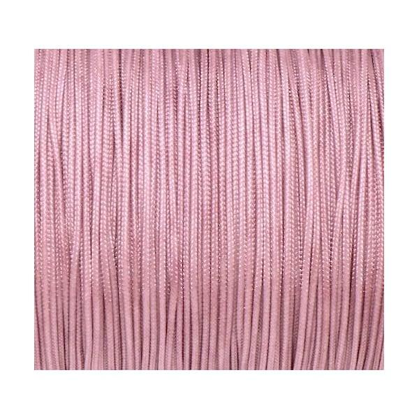 10m Fil De Jade 0,8mm Vieux Rose  Clair - Bracelet Wrap - Shamballa - Photo n°2