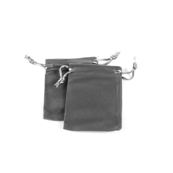 PS1196931 PAX 5 pochettes cadeaux velours RECTANGLE GRIS - Photo n°3