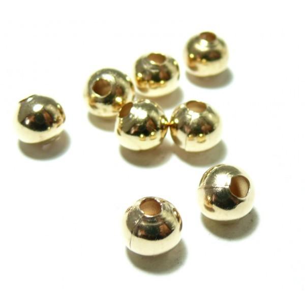 160127172749 PAX 500 perles intercalaires passants 3.2mm couleur Or Clair - Photo n°1