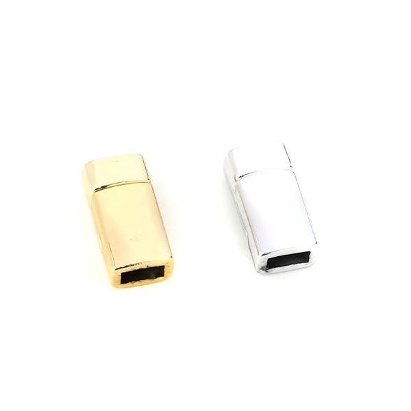 PS110115823 PAX 2 Sets de Fermoirs Magnetiques Rectangle couleur Or Clair 17 par 9 mm - Photo n°4