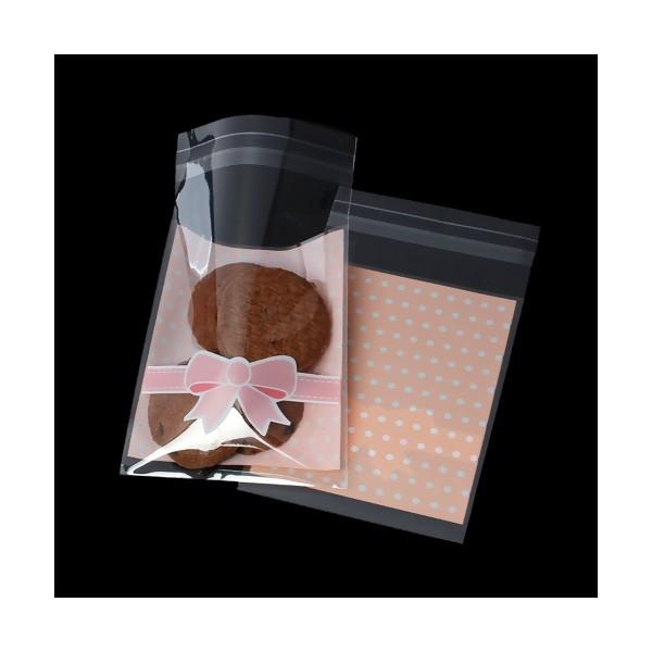 S1169927 PAX environ 100 Sachets adhésifs Plastiques Noeuds et pois Emballage cadeau 13 par 8 cm - Photo n°3