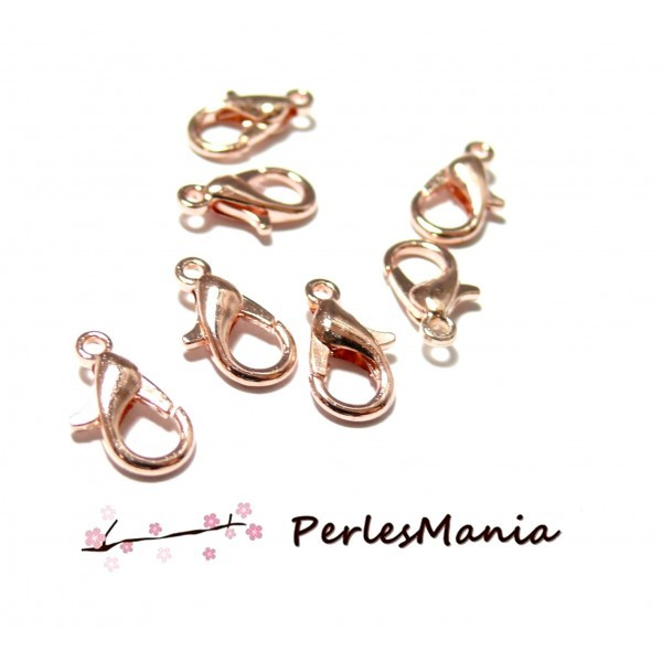 PS1136460 PAX 25 fermoirs mousquetons 12mm metal couleur Or Rose - Photo n°1