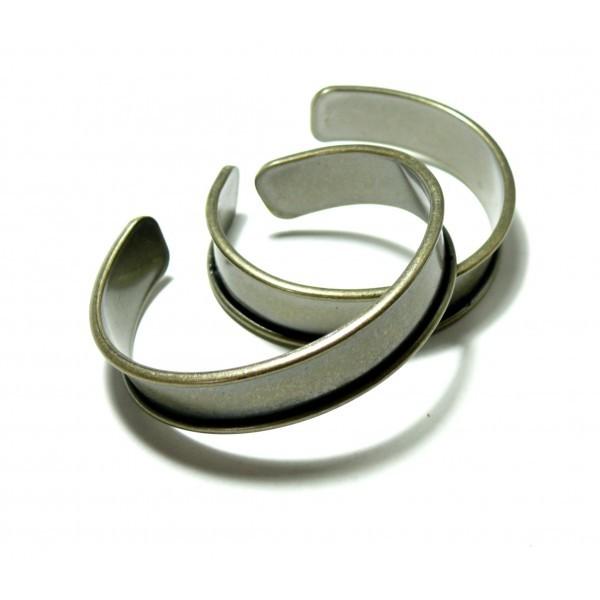 BN1131171B PAX 1 Support bracelet Jonc Manchette pour cordon plat 11mm couleur Bronze - Photo n°2