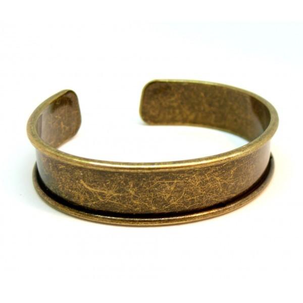 BN1131171B PAX 1 Support bracelet Jonc Manchette pour cordon plat 11mm couleur Bronze - Photo n°1