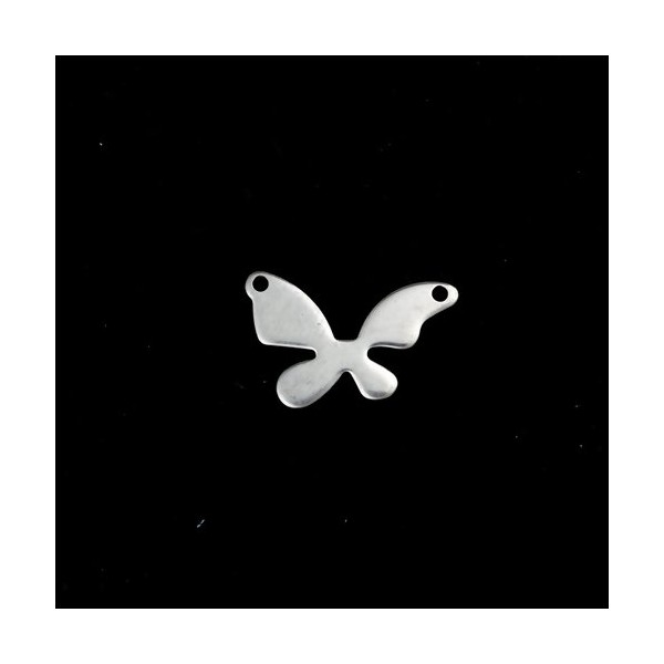 PS110215399 PAX 5 Pendentifs Papillon 18 par 11 mm Acier Inoxydable - Photo n°2