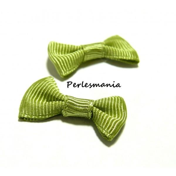Lot de 20 noeuds vert pistache PQZ02-10 - Photo n°1