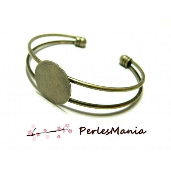 BN1122974 PAX 1 support de bracelet 20mm PLATEAU LISSE laiton coloris Bronze - Photo n°1